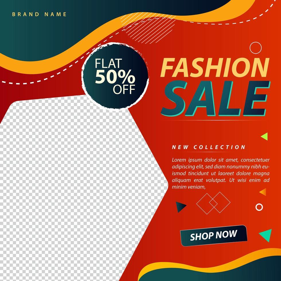 modern modeförsäljning social media design vektor