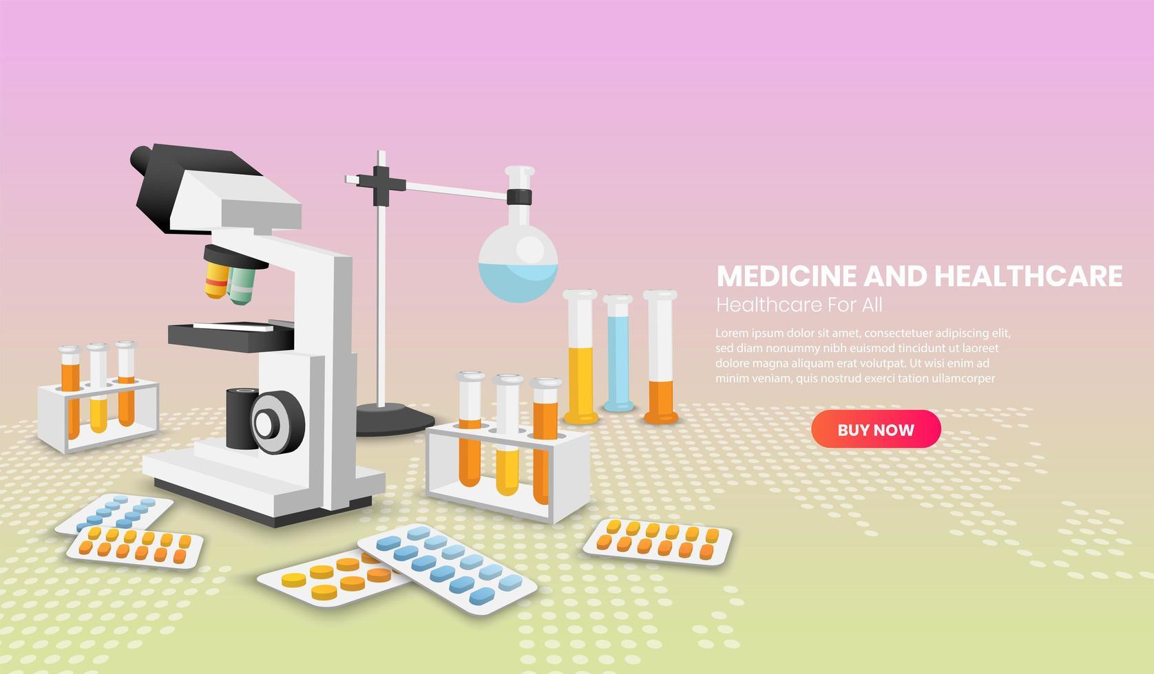 medicin och vård koncept vektor