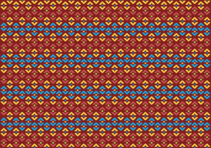 Muster der indonesischen Songket Illustration 2 vektor