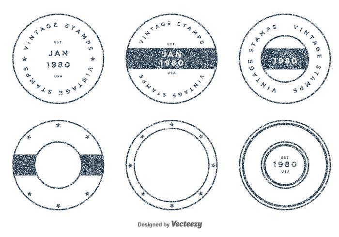 Set von Vintage Vektor Briefmarken