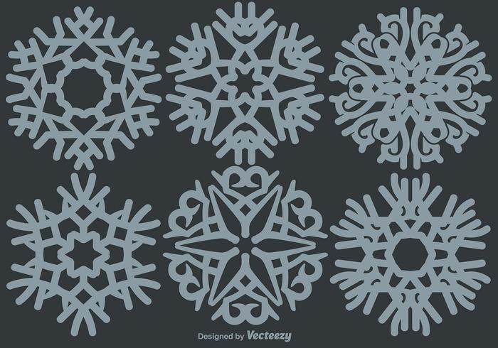 Klassische Schneeflocken Set vektor