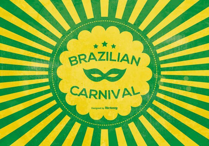 Brasilianisches Karnevals-Plakat vektor