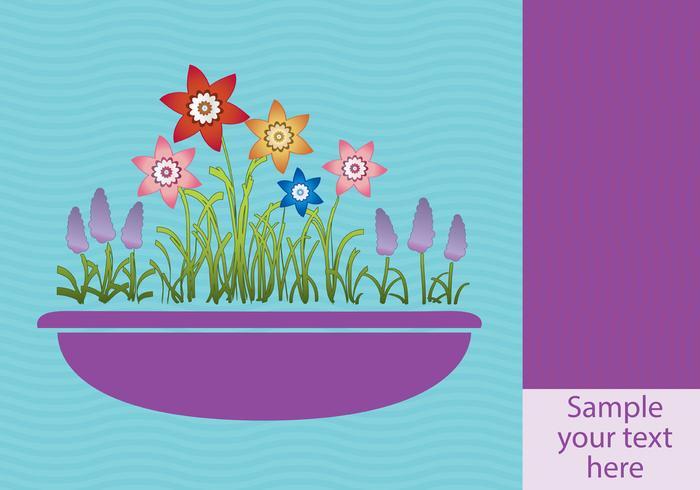 Frühlingsblumen im Pflanzerhintergrund vektor