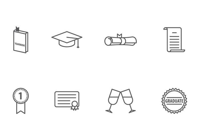 Graduierung Icon vektor