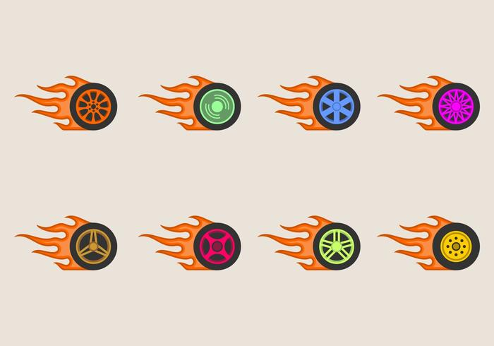 Burnout Räder Icon vektor