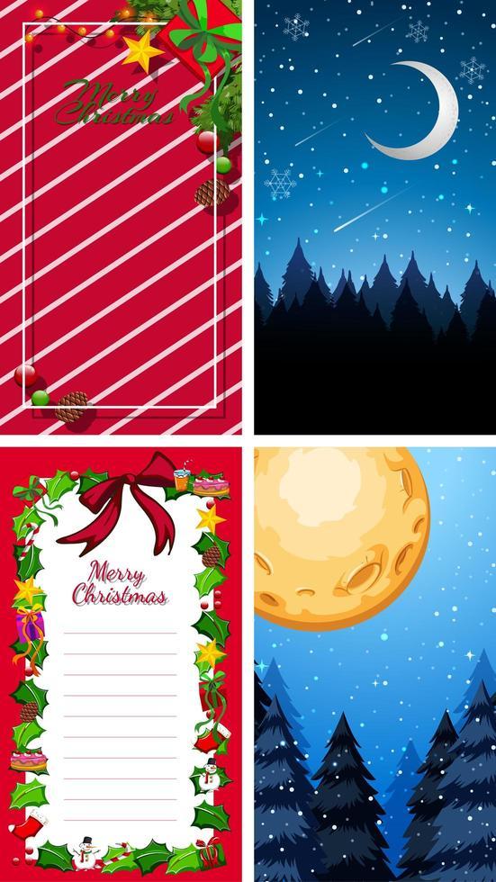 Hintergrundvorlagen mit Weihnachtsthema vektor