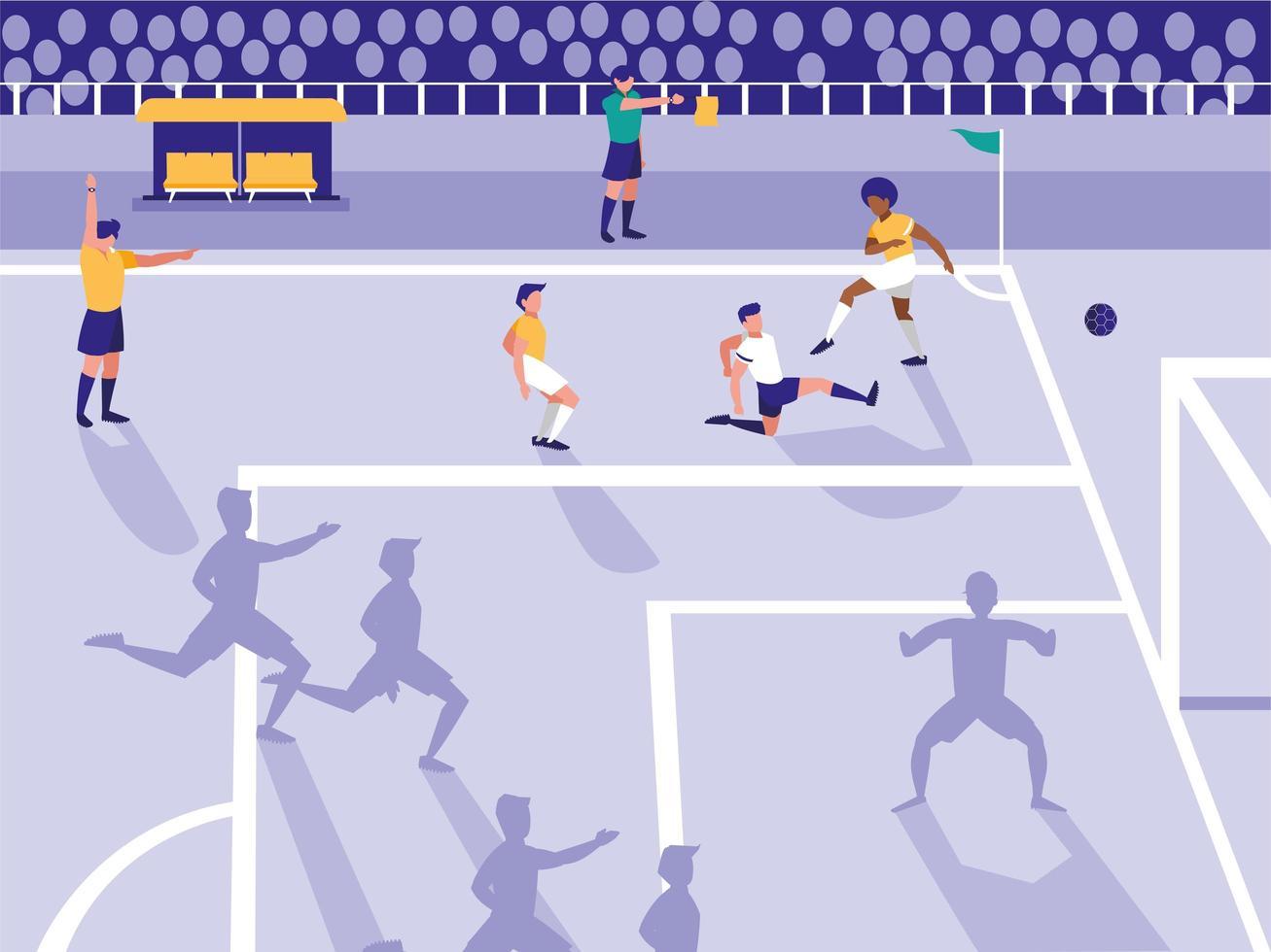 Fußball Fußballstadionszene vektor