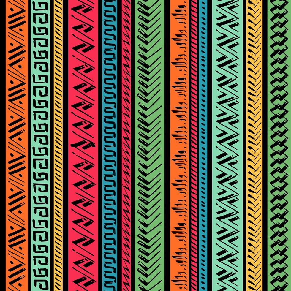 etniska sömlösa mönster vektor