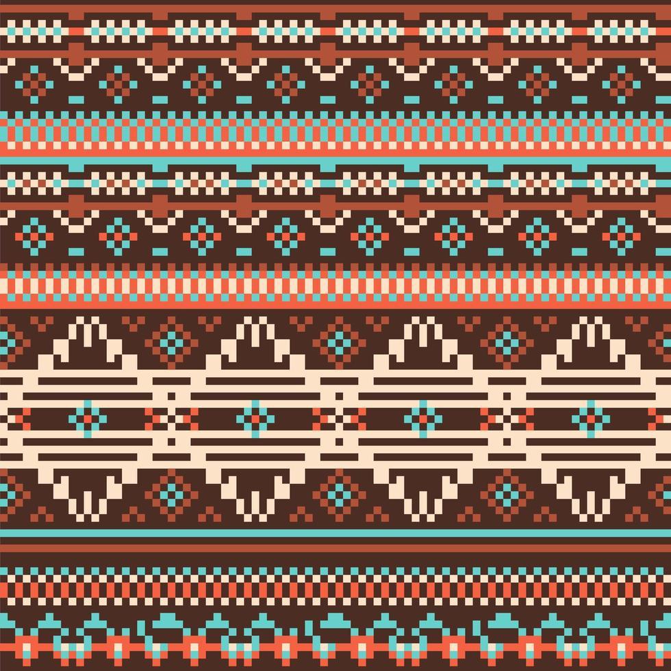 nahtloses Muster der ethnischen Stämme vektor