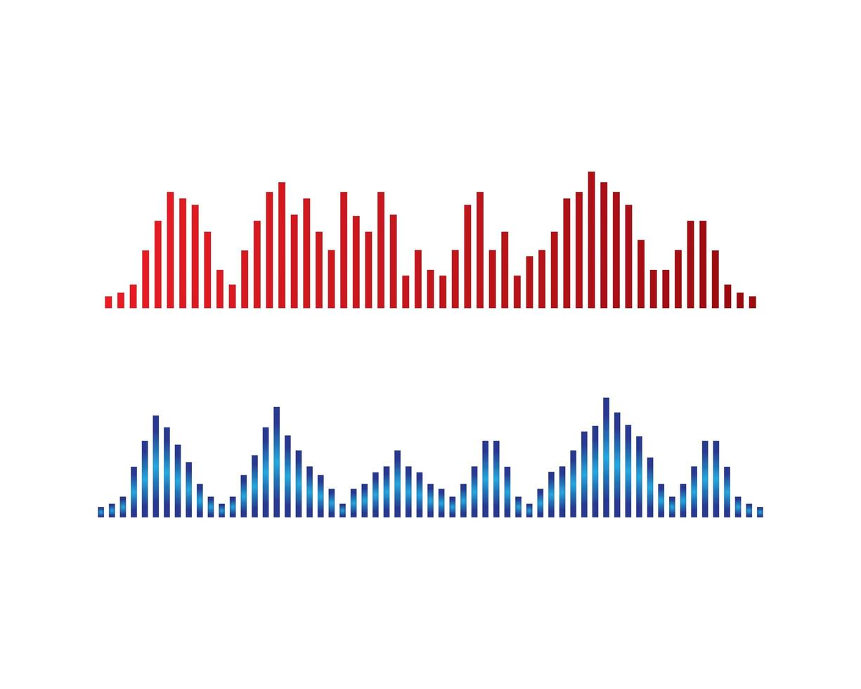 ljudvåglogotyp vektor