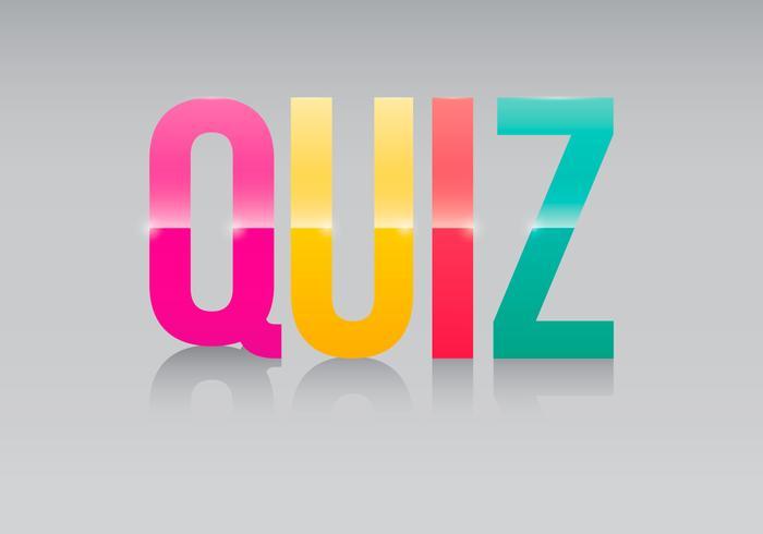 Trivia quiz logo illustration vektor