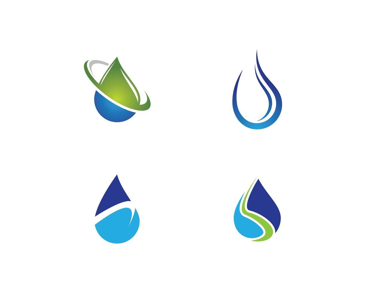 vatten droppe ikon vektor