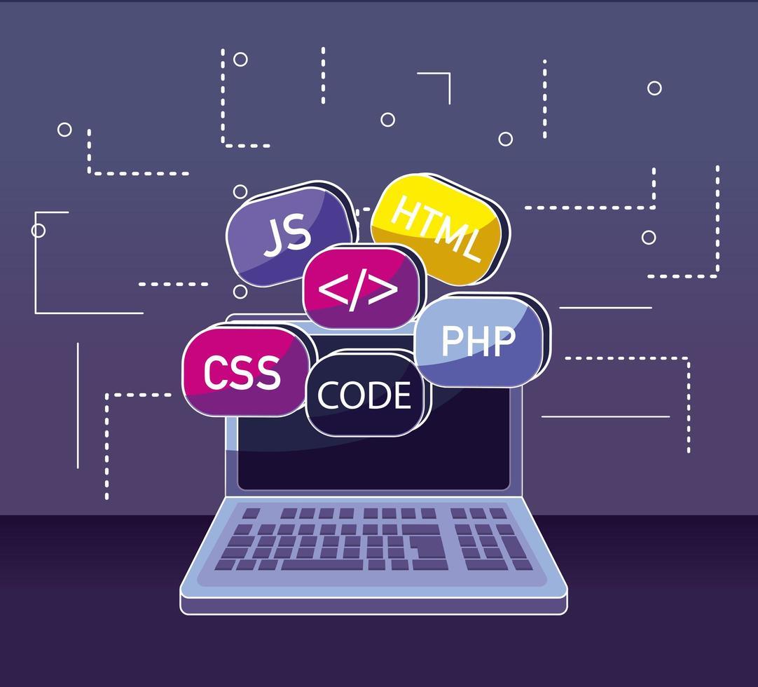 Programmier- und Codierungskonzept vektor