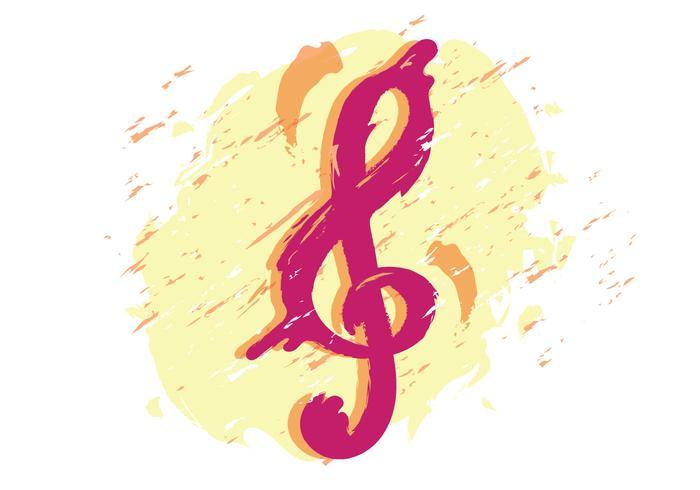 Künstlerischer Violinschlüssel vektor