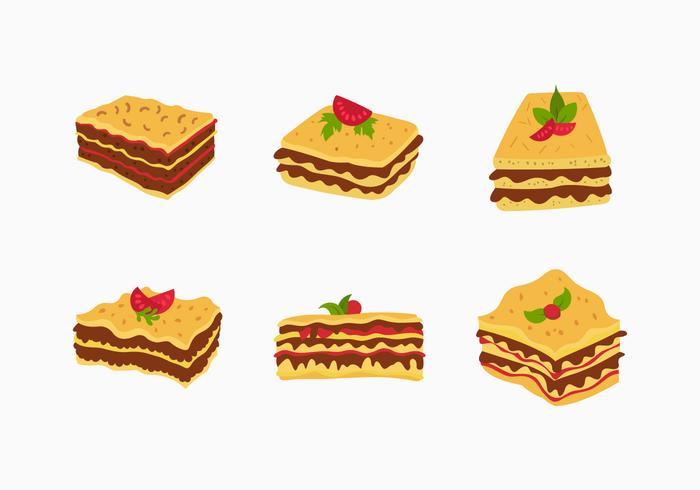 Lasagne vektor mat illustration