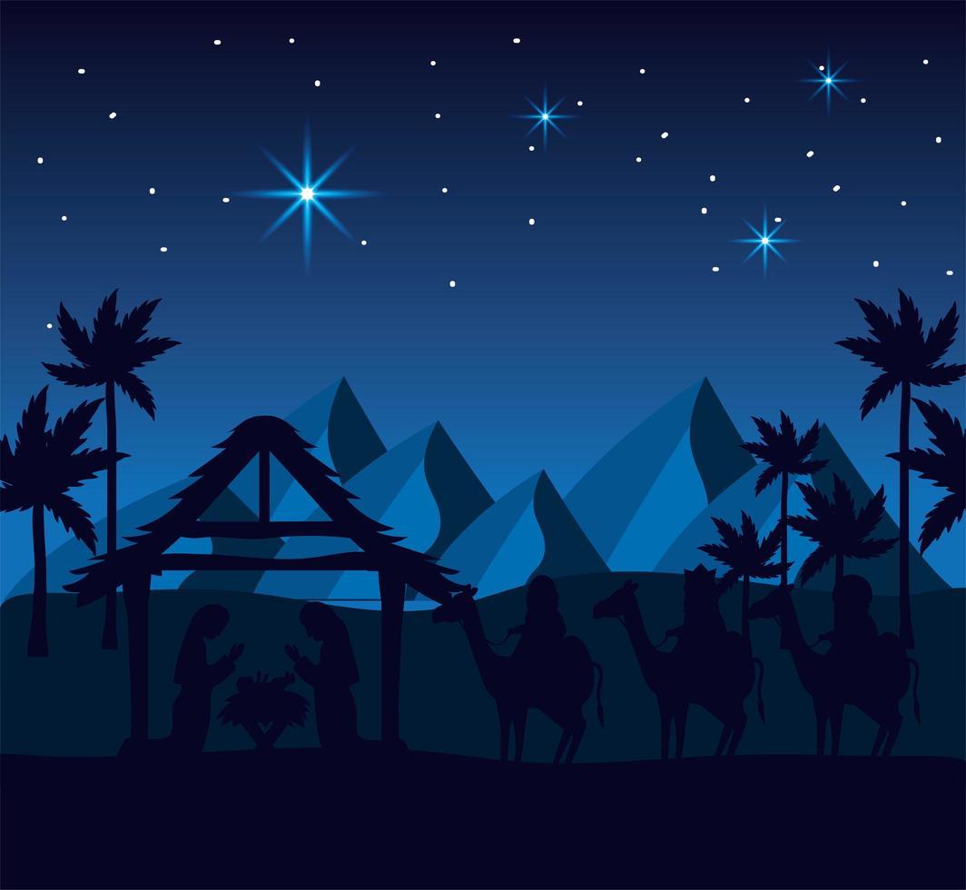 die Geburt Christi Design vektor