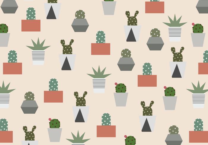 Kaktusmönster vektor