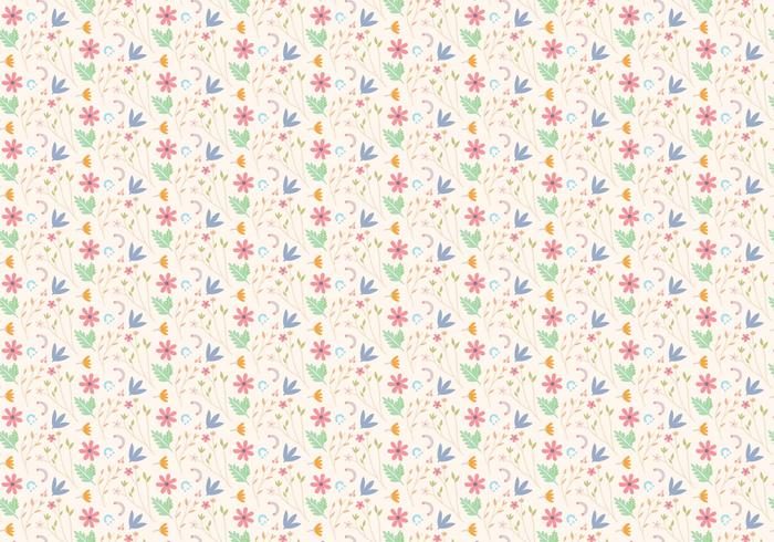 Blom- pastellmönster vektor