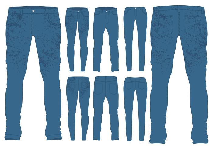 Blue Jeans Vorlagen vektor