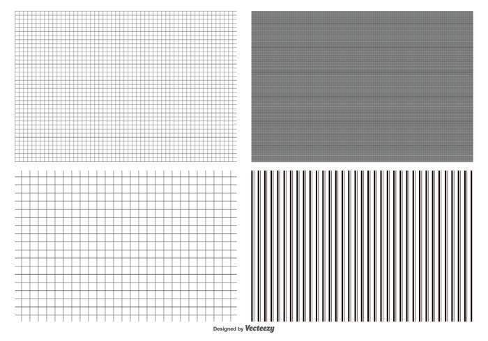 Nahtlose Grid Pattern Collection vektor