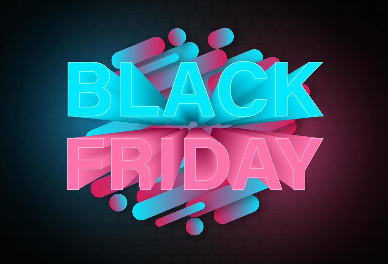 svart fredag neon banner formgivningsmall vektor