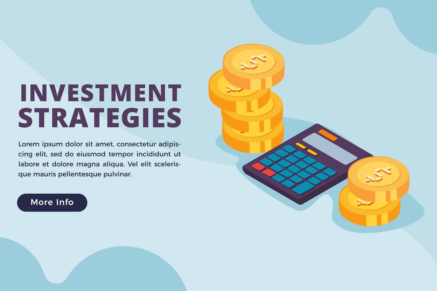 Geschäftskonzept für Anlagestrategien vektor