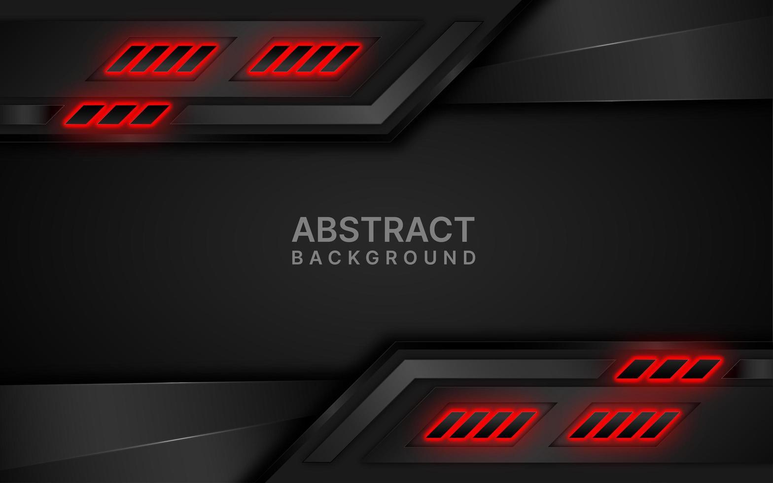 schwarz und rot futuristisch geschichtetes Design vektor