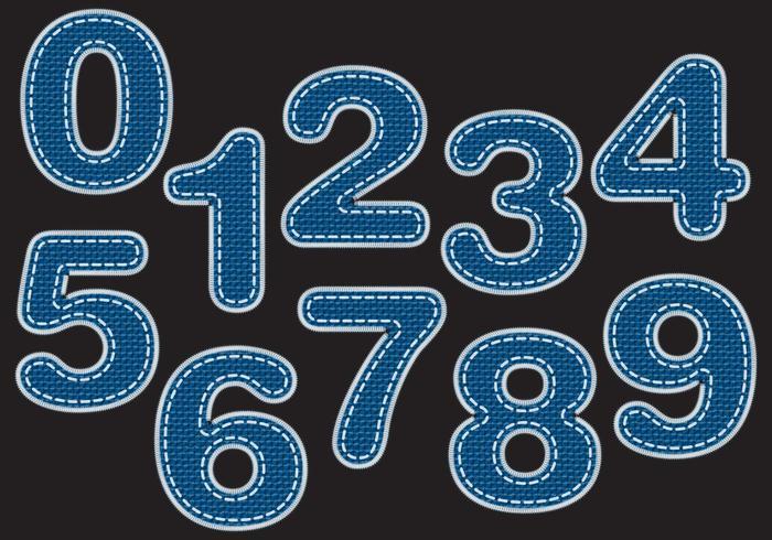 Blå Jeans Numbers vektor