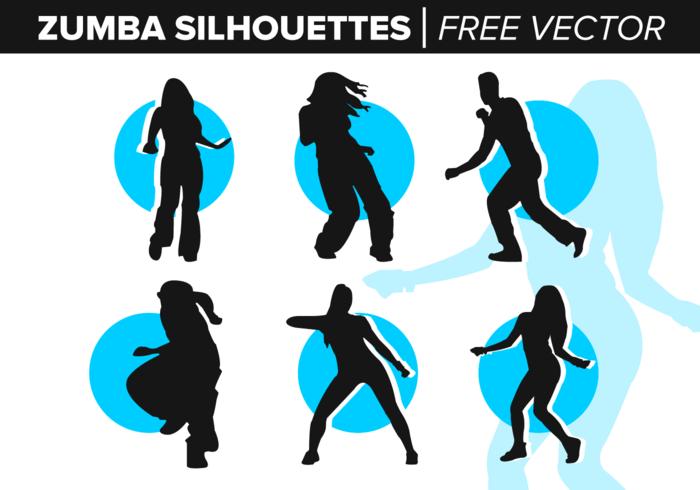 Zumba Silhouetten Free Vector
