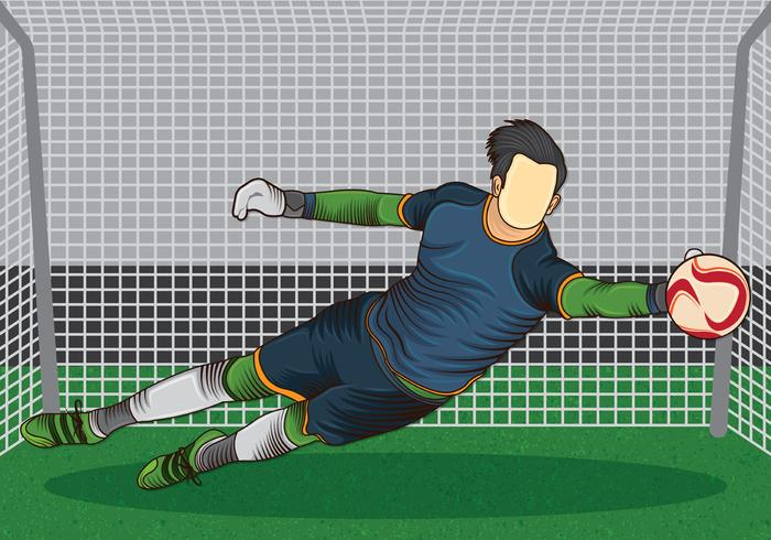 Mål Keeper Action vektor