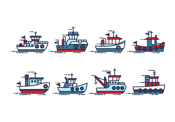 Bogserbåtvektor vektor