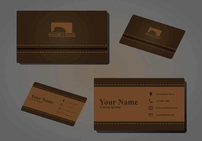 Sömnad Namecard Illustration vektor
