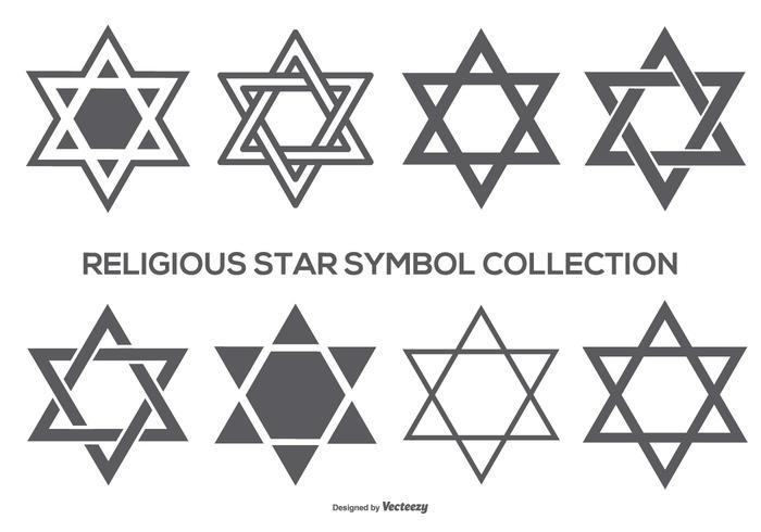 Religiöst stjärna symbol samling vektor