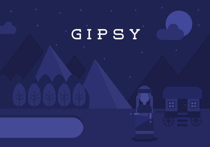 Gipsy Landskap Bakgrund vektor