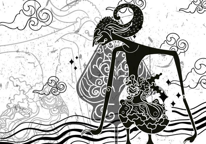 "Wayang ""Gunungan"" Illustration vektor"
