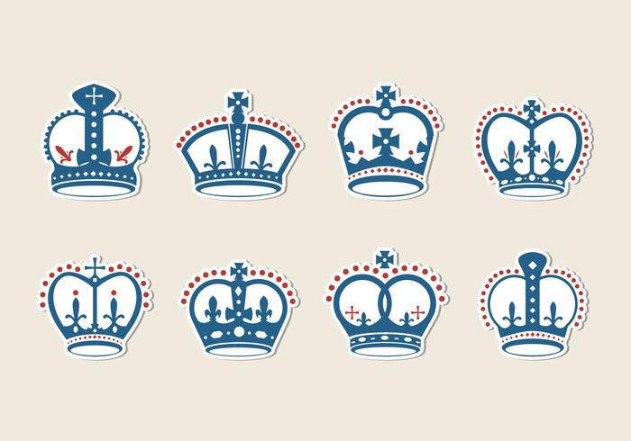 Freier britischer Krone-Vektor vektor