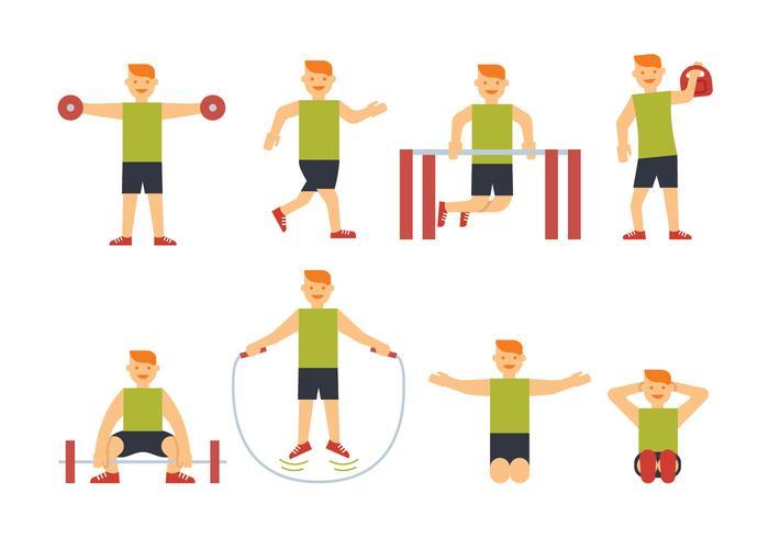 Sportsman träningsvektorer vektor