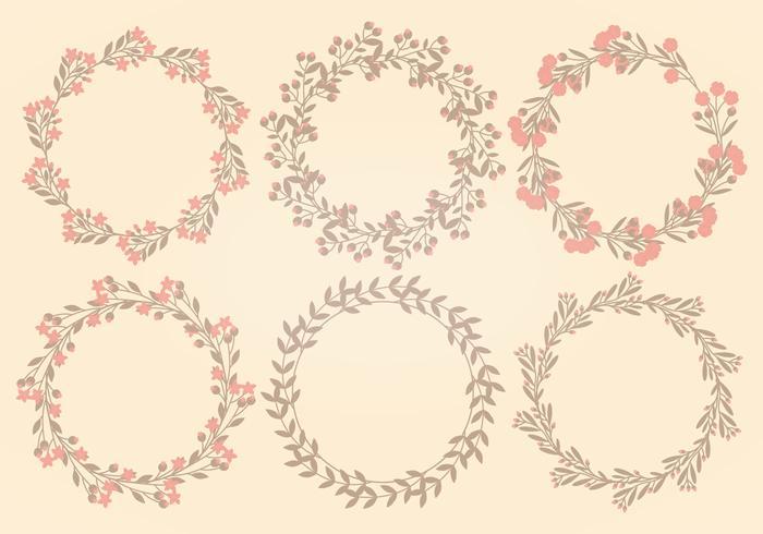 Vektor blomma krans samling