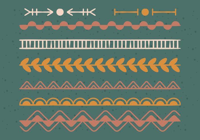 Doodle dekorationselement vektor