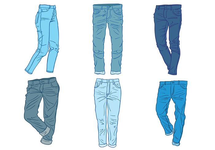 Free Blue Jeans Icons Vektor