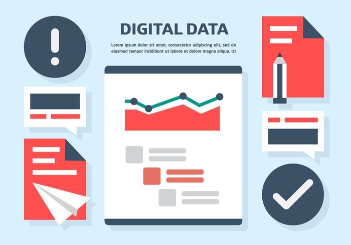 Gratis Digital Data Vector Illustration