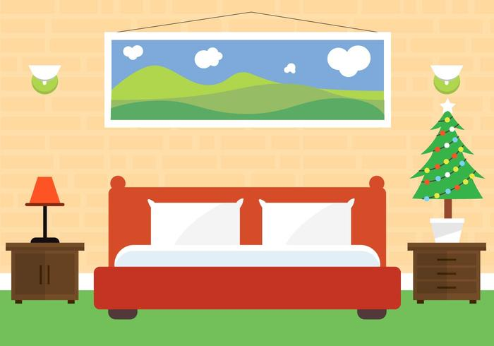 Free Christmas Vector Schlafzimmer