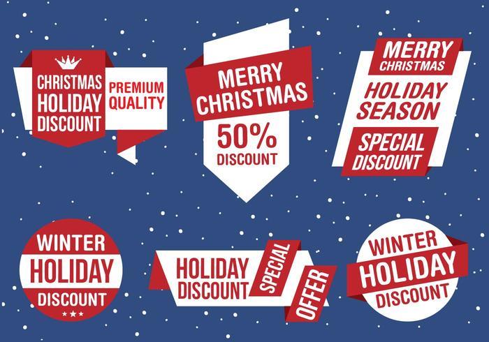Kostenlose Weihnachten Vektor Business Labels