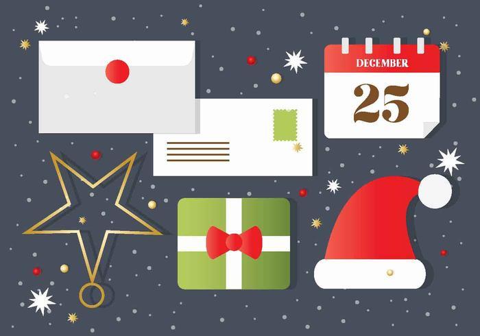Jul vektor hälsningar