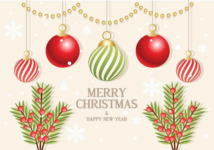 Jul Vector Branch Ornaments