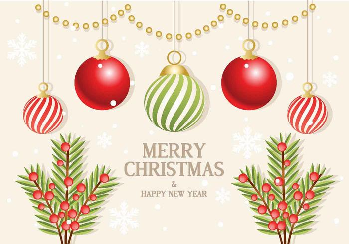 Weihnachten Vektor Zweig Ornamente
