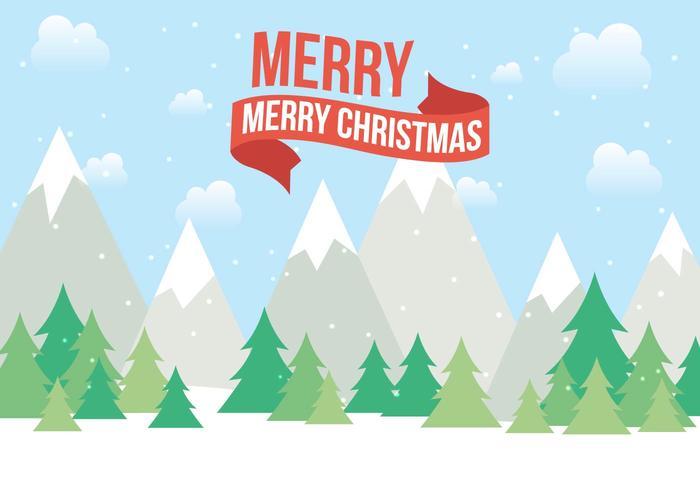 Freie Weihnachtsvektorlandschaft vektor