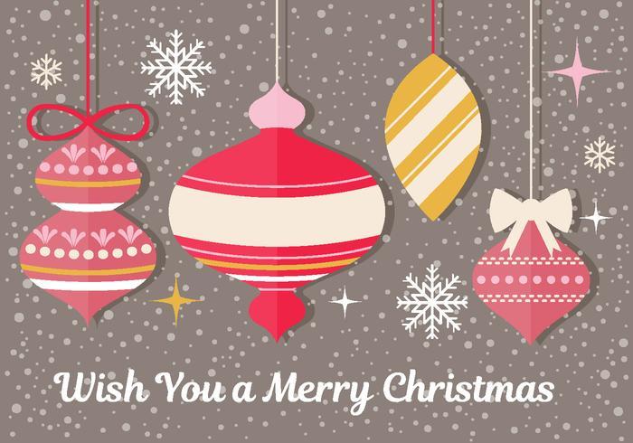 Weihnachtsverzierung Vektor Grußkarte