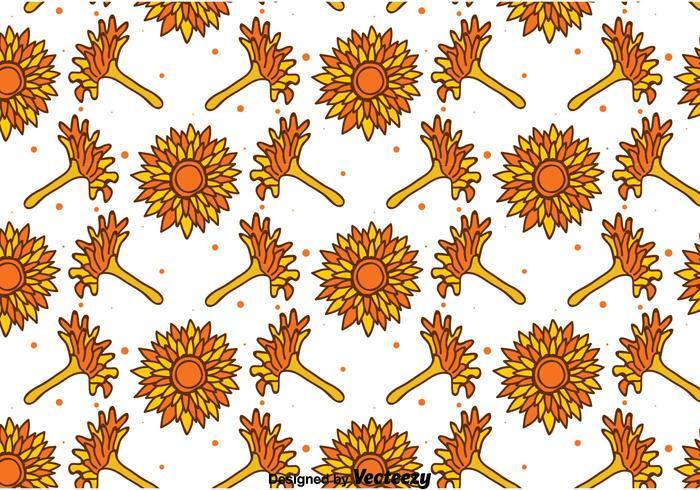 Handgezeichnete Calendula Nahtlose Muster vektor