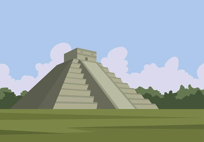 Piramid Mayan Gratis Vector